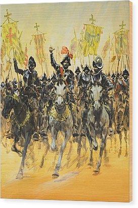 Spanish Conquistadors Wood Print by Graham Coton