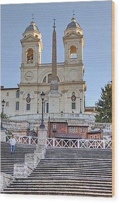 spanish steps in Rome Wood Print by Joana Kruse