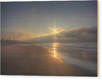 Sparkling Sunrise Wood Print by Sharon Batdorf