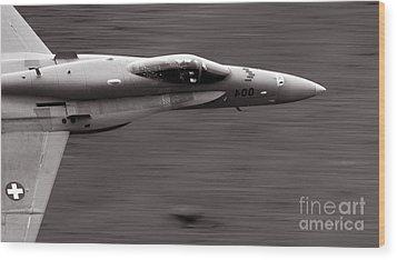 Speed Of Sound Wood Print by Angel  Tarantella
