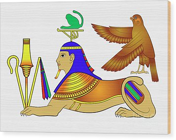 Sphinx - Mythical Creatures Of Ancient Egypt Wood Print by Michal Boubin