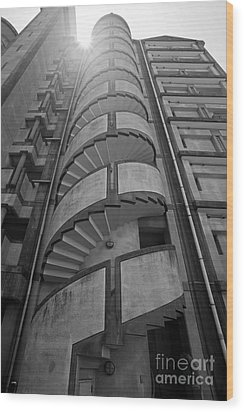 Wood Print featuring the photograph Spiral Staircase by Aiolos Greek Collections