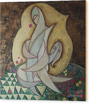 Spirit Lovers Wood Print by Carola Joyce