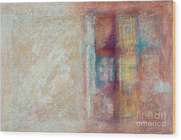 Wood Print featuring the painting Spirit Matter Cosmos by Kerryn Madsen-Pietsch