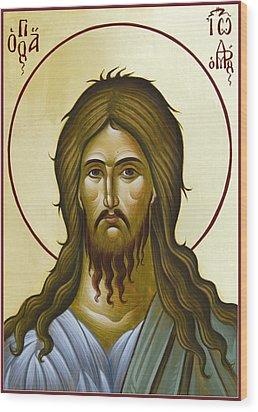 St John The Forerunner Wood Print by Julia Bridget Hayes