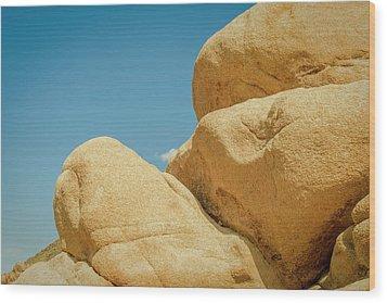 Stacked Boulders Joshua Tree Wood Print by Amyn Nasser