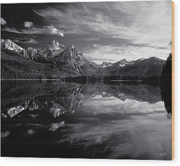 Stanley Lake Wood Print by Leland D Howard