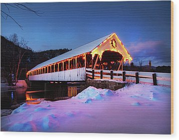 Wood Print featuring the photograph Stark New Hampshire by Robert Clifford