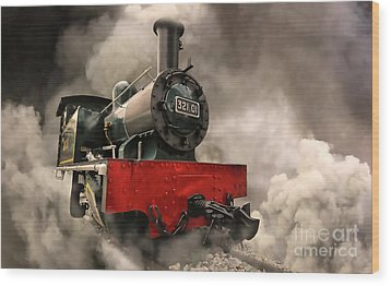 Wood Print featuring the photograph Steam Engine by Charuhas Images