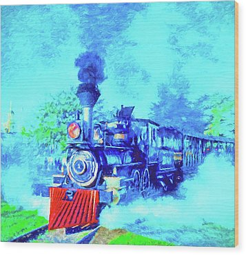 Edison Locomotive Wood Print by Dennis Cox