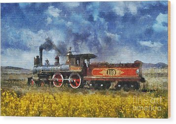Wood Print featuring the photograph Steam Locomotive by Ian Mitchell