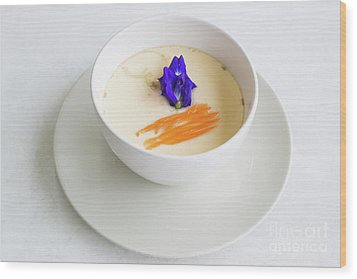 Wood Print featuring the photograph Steamed Egg by Atiketta Sangasaeng