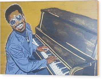 Stevie Wonder Wood Print
