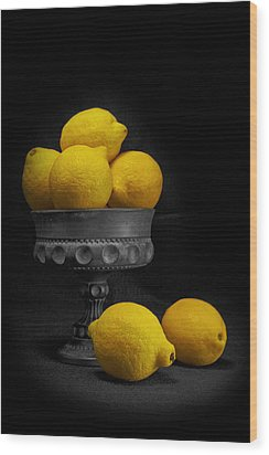 Still Life With Lemons Wood Print by Tom Mc Nemar