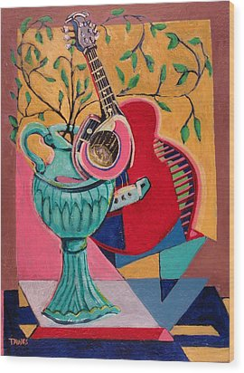 Still Life With Sound Wood Print by Dennis Tawes