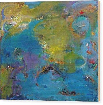 Still Waters Run Deep Wood Print by Johnathan Harris