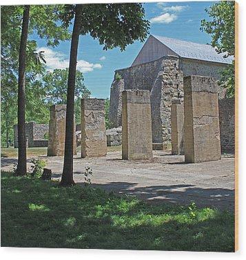 Stonehenge At Lockridge Wood Print by Robert Sander