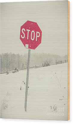 Wood Print featuring the photograph Stop by Edward Fielding