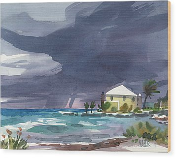 Storm Over Key West Wood Print by Donald Maier