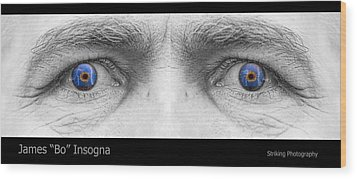 Stormy Angry Eyes Wood Print by James BO  Insogna