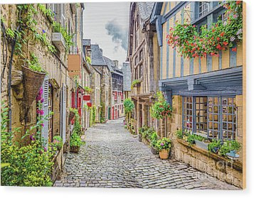 Streets Of Dinan Wood Print by JR Photography