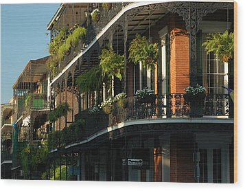 Streets Of New Orleans Wood Print by Lori Mellen-Pagliaro