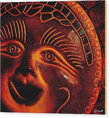 Sun Burn Wood Print by Ed Smith