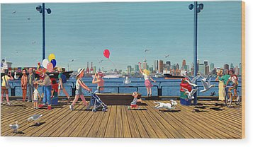 Sunday Morning Lonsdale Quay Wood Print by Neil Woodward