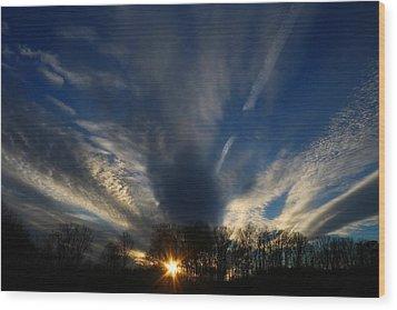 Sundown Skies Wood Print