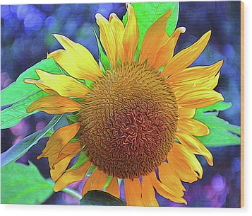 Wood Print featuring the photograph Sunflower by Allen Beatty