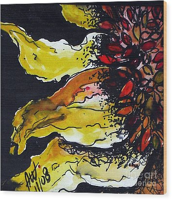 Sunflower Wood Print by Amy Williams