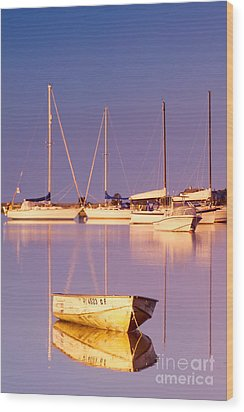 Sunrise At West Bay Osterville Cape Cod Wood Print by Matt Suess