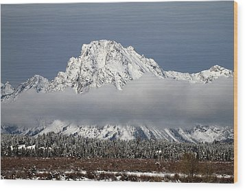 Sunrise In Grand Teton National Park Wood Print by Pierre Leclerc Photography