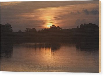 Sunrise On The Bayou Wood Print