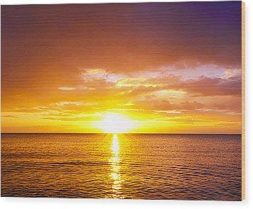 Sunrise Wood Print by Svetlana Sewell