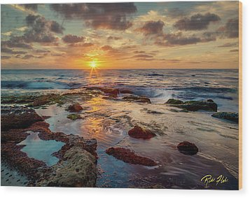 Wood Print featuring the photograph Sunset At La Jolla  by Rikk Flohr