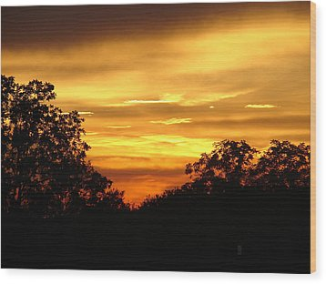 Sunset Wood Print by Heidi Poulin