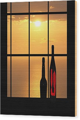 Wood Print featuring the photograph Sunset In Hawaii by Athala Carole Bruckner