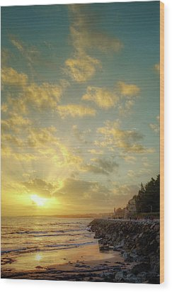 Wood Print featuring the photograph Sunset In The Coast by Carlos Caetano