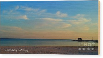 Sunset Wood Print by Janice Spivey