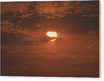Wood Print featuring the photograph Sunset by Linda Ferreira