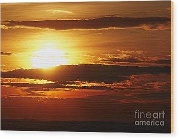 Sunset Wood Print by Michal Boubin