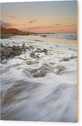 Sunset Tides Wood Print by Mike  Dawson
