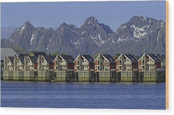 Svolvaer Norway Wood Print