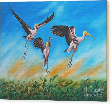 Take Off Wood Print by Ragunath Venkatraman