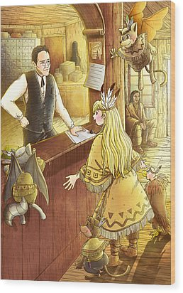 Tammy And The Postmaster Wood Print by Reynold Jay