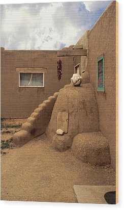Taos Pueblo Wood Print by Jerry McElroy