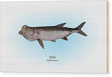Tarpon Wood Print by Ralph Martens