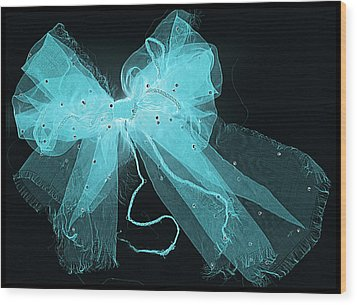 Tattered And Blue Wood Print by Dolly Mohr