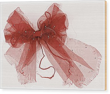 Tattered Red Wood Print by Dolly Mohr